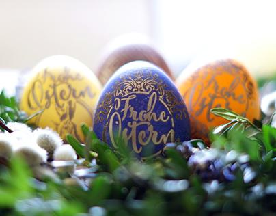 Lasergravierte Ostereier – Laser Engraved Eggs
