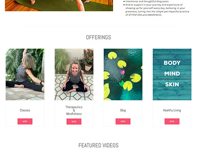 Siri Hoffmam | Yoga Tranning Website | Website Design