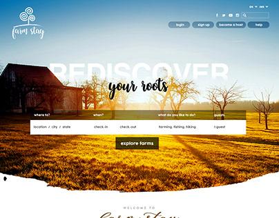 FarmStay Portal UI