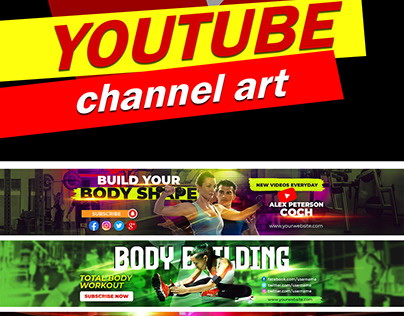 YouTube channel Art and social media banner or post