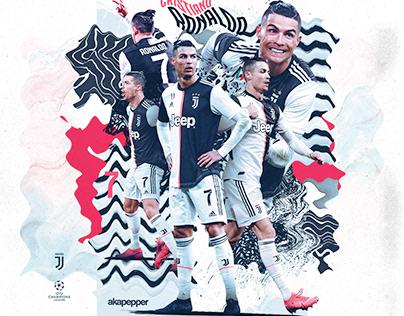 Cristiano Ronaldo - Juventus Match Day Poster