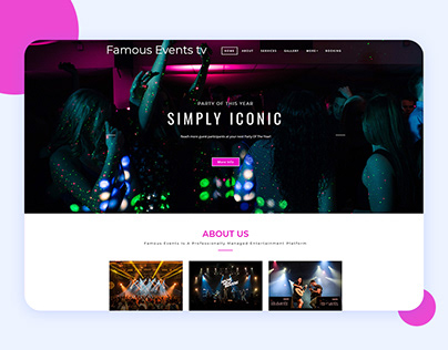 Famous Event Tv website design