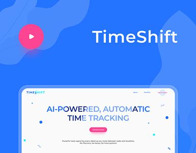 NEW TimeShift time tracker . promo website