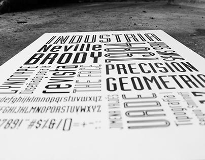 Industria font