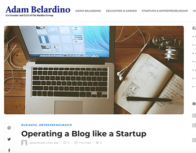 Operating a Blog like a Startup
