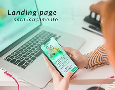 Landing page - Lançamento