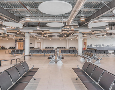 Cardiff Airport Departures Lounge by Powell