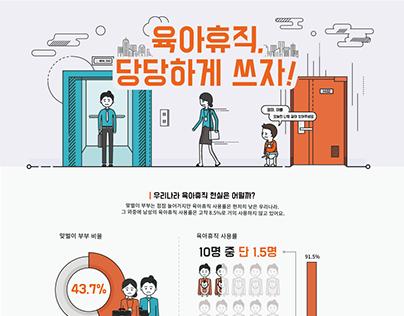 육아휴직, 당당하게 쓰자! / Information Design