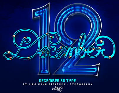 December 3D Type - Typography