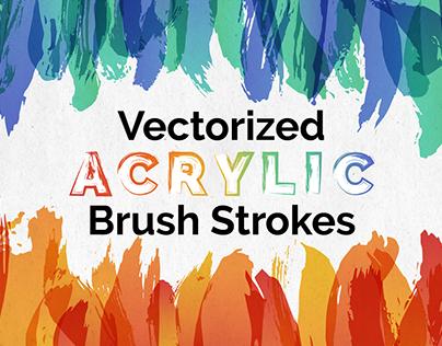 Vectorized Acrylic Brush Strokes