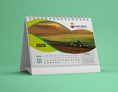 Terra Fértil - calendário de mesa 2020