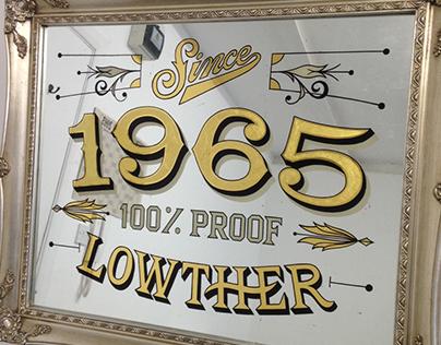 1965 Gilded Pub Mirror