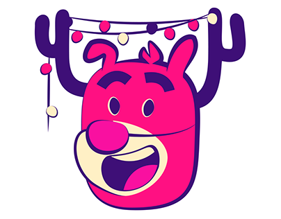 Jolly Reindeer iOS10 Animated Sticker Pack