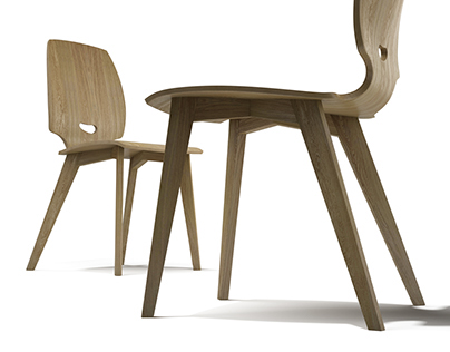 FINN ergonomic molded plywood chair