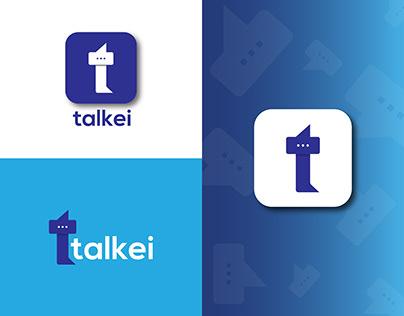 T Letter Logo Design - Chat App Logo