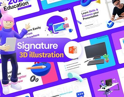 Free 3D Illustration PowerPoint Template