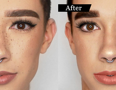 Model Face Retouching Examples