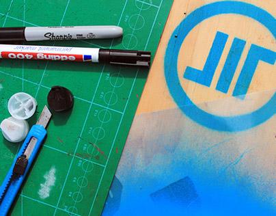 Personal Logo // Stencil + Gif