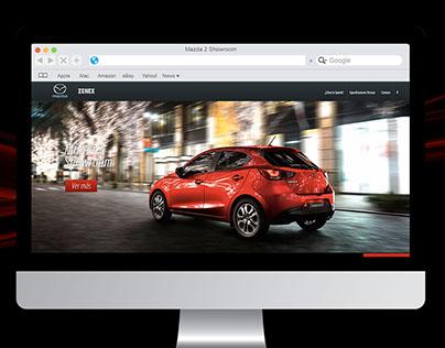 Mazda 2 Showroom Landing Page