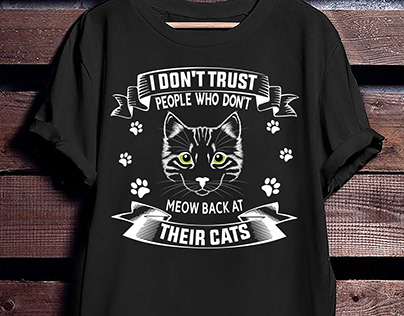 Meow Back Cat T-Shirt