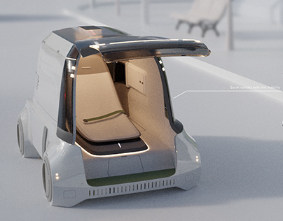 Land Rover Capsule Hotel Concept City Car