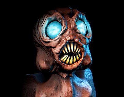 """Fishmouth"" - Lovecraftian Monster 3D Design"