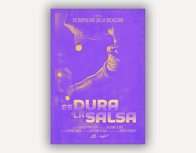 """Es Dura la Salsa"" Movie Poster"