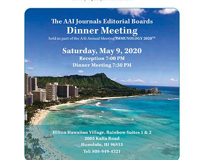 Flyer for Dinner Meeting