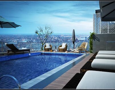 Mini Pool in Calix hotel - DaNang