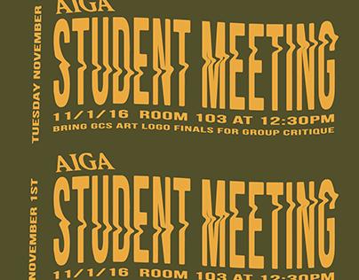 AIGA Student Meeting Poster