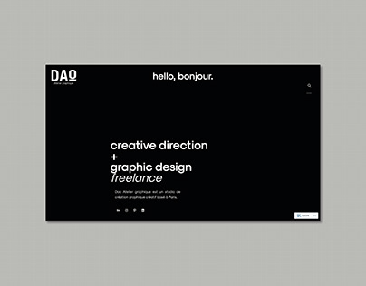 DaoAtelierGraphique Website