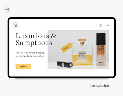 Perfume Shop Landing Page