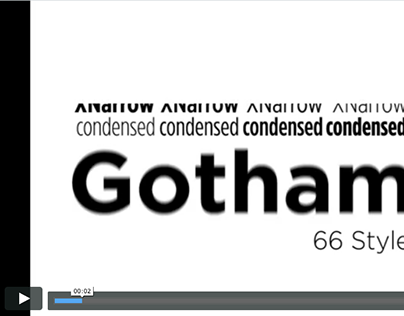 Gotham - Typeface Video