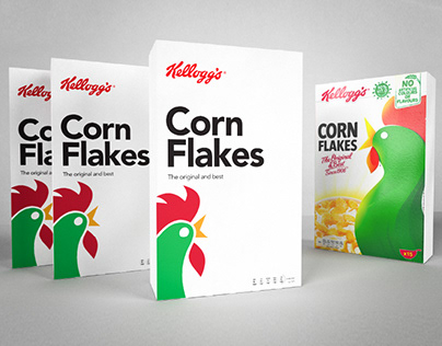 Daily Project | Cereal Packaging Design | Corn Flakes