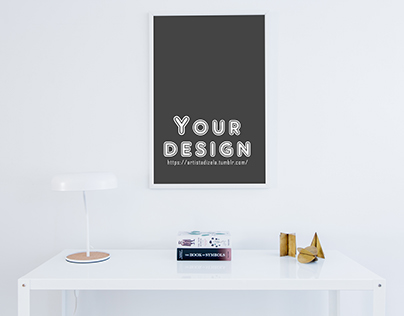 Free Poster Mock Up Commercial Use