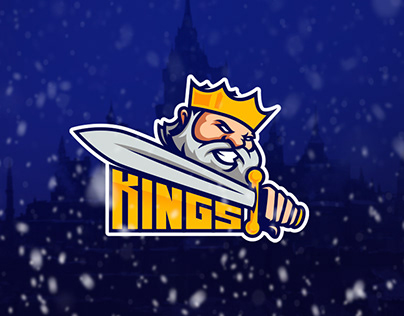 Kings team mascot logo