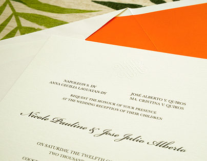 Reception Invitation: Nicole & Jose