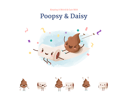 Poopsy & Daisy iMessage sticker pack