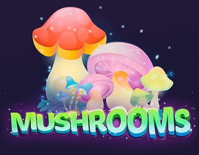 Mushrooms Ilustration