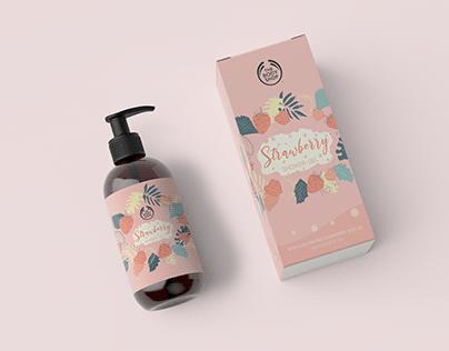 The Body Shop Shower gel packaging