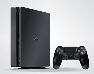 Slim PS4 Vector illustration