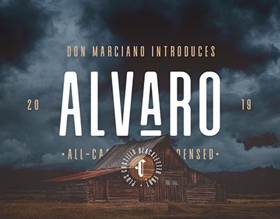 FREE | Alvaro All-Caps Condensed Font
