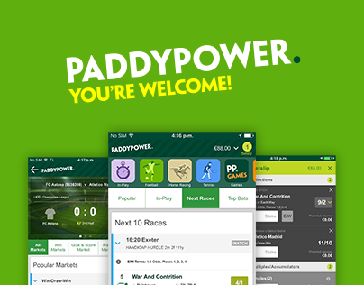 Paddy Power Sports App Redesign