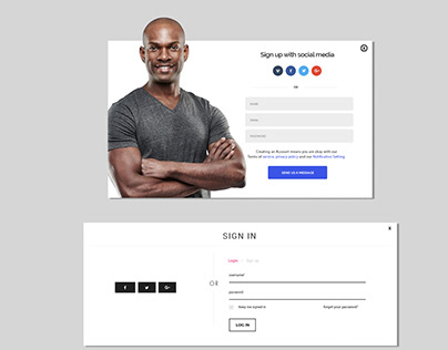 Sign-up popup designs