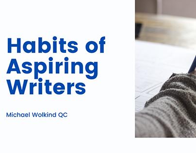 Habits of Aspiring Writers | Michael Wolkind QC