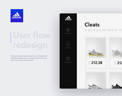 Adidas redesign of сart and checkout flow