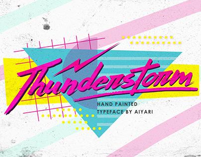Thunderstorm Typeface