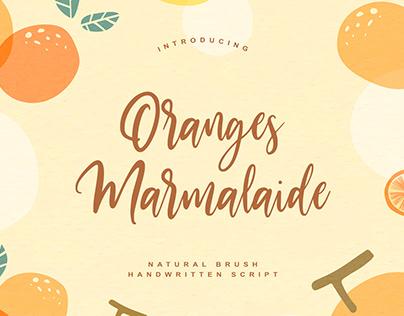 Oranges Marmalaide Handwritten Script