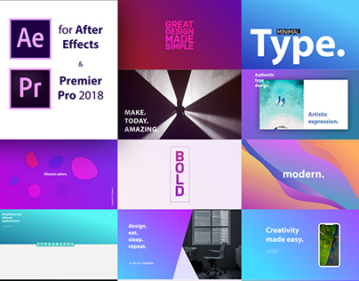 Titles - Typography Designs for Premier & After Effects