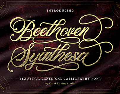 Free Beethoven Syinthesa Calligraphy Font